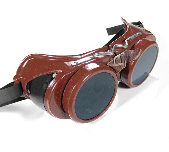 Steampunk Goggles Vintage Industrial WELSH Steam by edmdesigns, $245.00