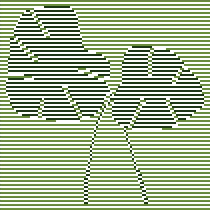 Beautiful minimalist cross stitch pattern of mostera leaves by CrossStitchtheLine