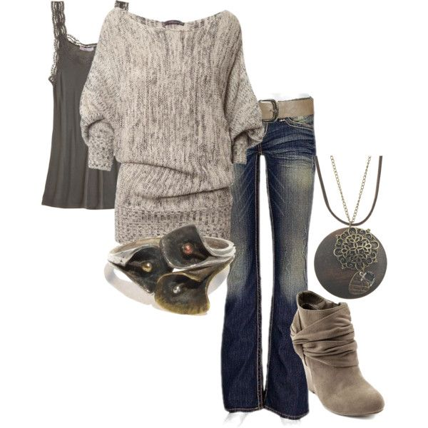 """sweater weather"" such a cute outfit!"
