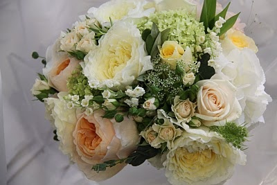 The Flower Magician: Ivory, Creams and Apricot Romantic English Wedding Bouquet