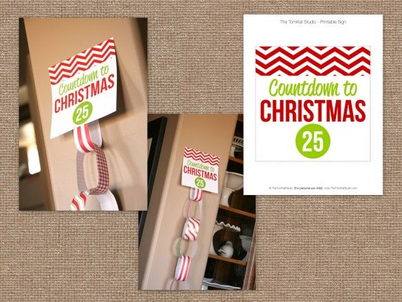 Happy Holidays — Hot Chocolate on a Stick Recipe and FREE Printable!: Christmas Countdown, Countdown Paper, Craft, Christmas Chain Countdown, Countdown To Christmas, Christmas Chains, Paper Chains Christmas, Christmas Paper, Countdown Chains