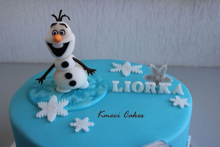 Frozen - Elsa and Olaf cake (detail)