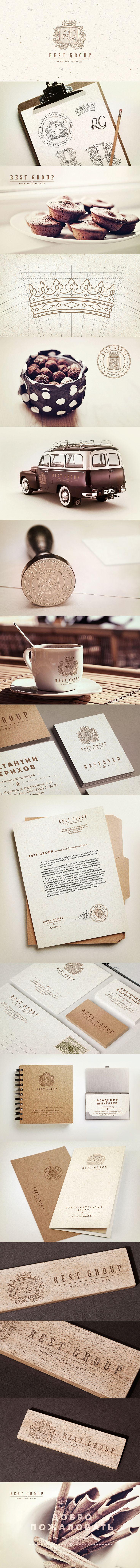 Rest Group, Identity © Павел Емельянов #design #corporate #identity #branding #visual