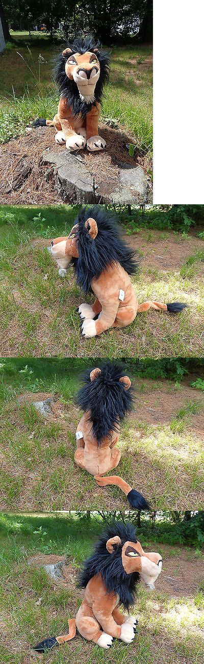 Lion King 44037: Lion King 18 Scar Plush Stuffed Toy Nwt Disney Store Authentic Rare Version -> BUY IT NOW ONLY: $135 on eBay!