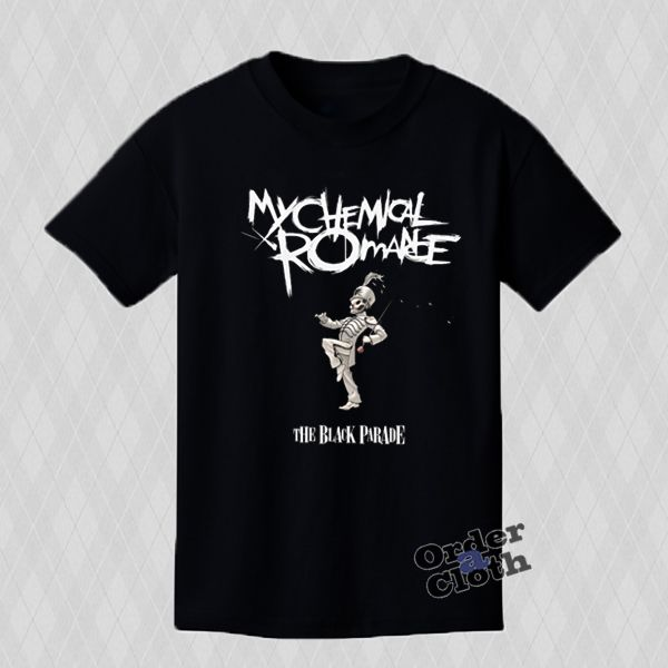 My Chemical Romance The Black Parade Unisex T-shirt is Made To Order, one by one printed so we can control the quality. We use Technology on to the shirt.