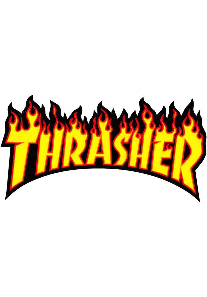 Thrasher Flame-Sticker-(medium) - titus-shop.com  #Misc. #AccessoriesMale #titus #titusskateshop