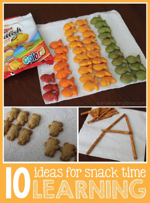 There are many opportunities for learning early math and literacy concepts during preschool or pre-k snack time.