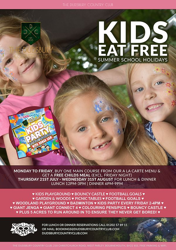 Kids Eat FREE Summer School Holidays