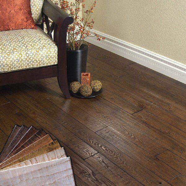 Medium Hardwood Cafe Ideas: Shaw Handscraped Engineered Flooring Gives A Great