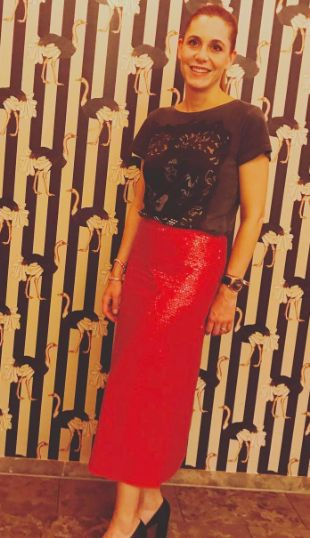 Betty - new fascinating Sequin Skirt from Ici Maintenant in Munich at the Rocco Riviera Restaurant