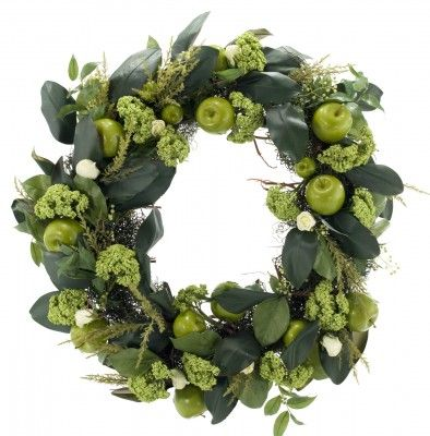 """Natural Decorations, Inc. - Rose & Green Apple 32"""" Wreath"""