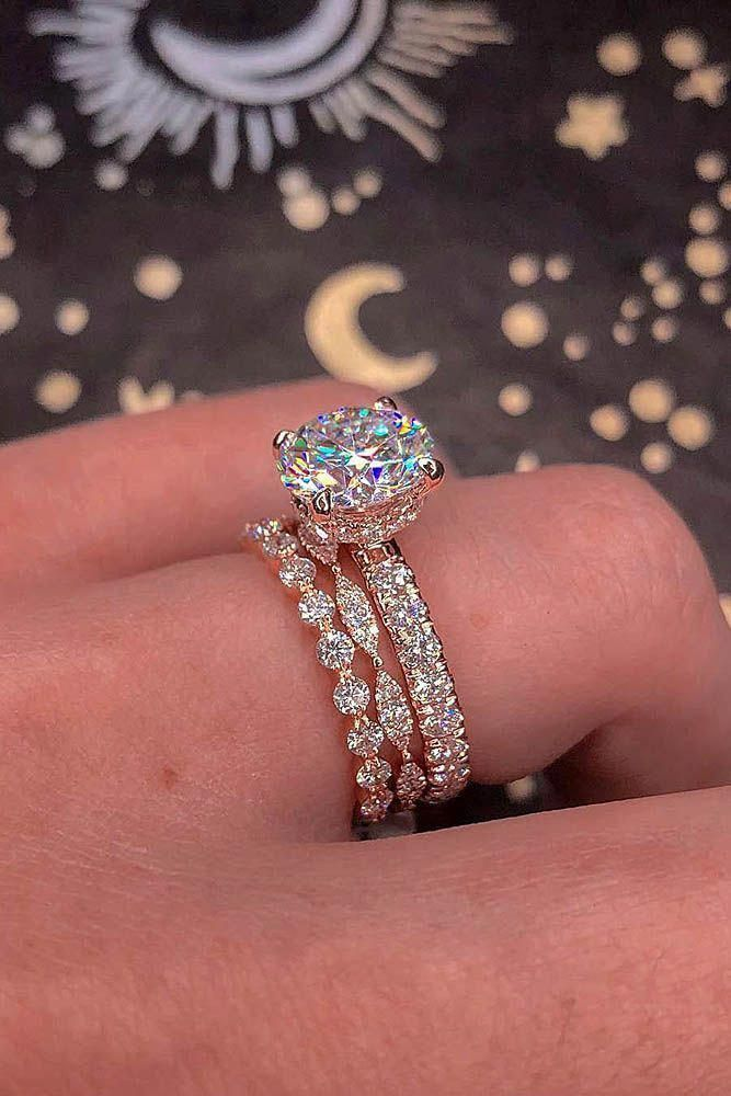 Cluster Diamond Engagement Ring Halo Flower Engagement Ring 14k