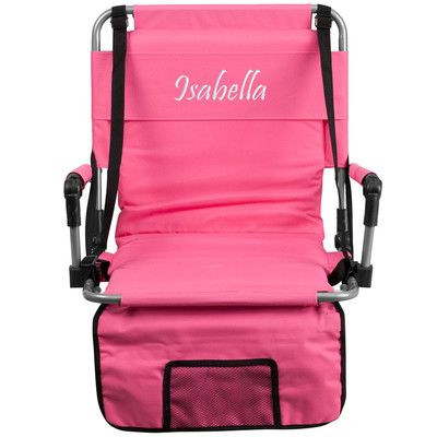 Flash Furniture Folding Stadium Chair Chair Color: Pink, Thread Color: Floral Pink