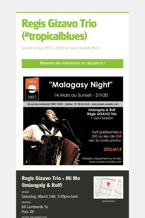 Help spread the word about Regis Gizavo Trio (#tropicalblues). Please share! :)
