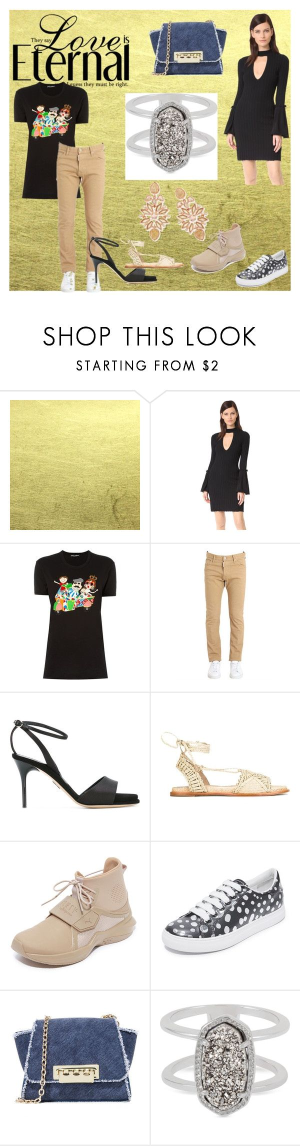 """Black is Fashion"" by mkrish ❤ liked on Polyvore featuring C/MEO COLLECTIVE, Dolce&Gabbana, Dsquared2, Paul Andrew, Puma, Marc Jacobs, ZAC Zac Posen and Kendra Scott"