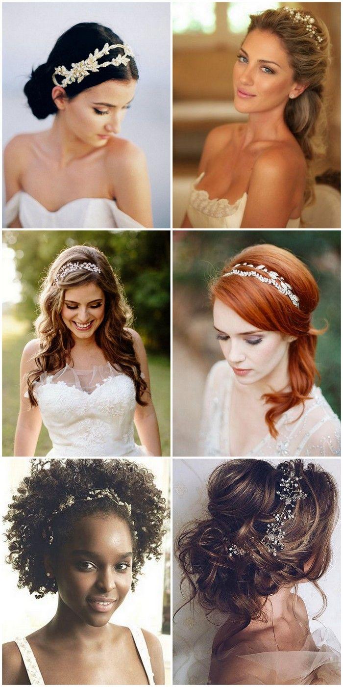 Penteados para Noivas com Tiaras e Flores. Inspiração e ideias de penteados para casamento. The Best New Bridal Hairstyles. Fabulous Wedding Hairstyles for Every Bride.                                                                                                                                                                                 Mais