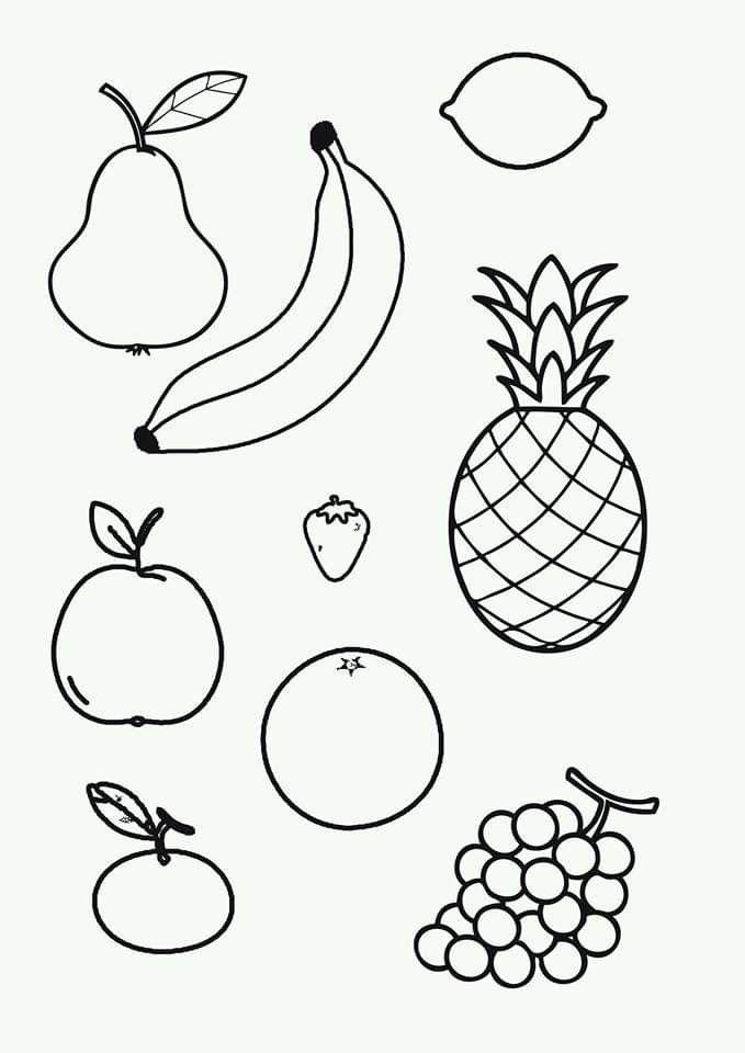 Pin De Anita En Alimentacion Frutas Para Colorear Dibujos De Frutas Paginas Para Colorear