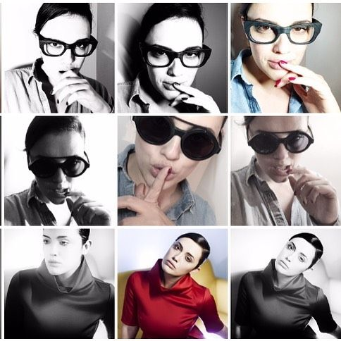 3x3 @micolronchi. Stasera spacchi!!! #micolronchi #model #beauty #beautiful #portrait #alessandrobianchi #photo #photographer #Moment #shooting #saturninoeyewear #red #actress #showgirl #tv #color #blackandwhite #instagram #cool #composition #swag