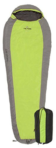 TETON Sports TrailHead  20F Ultralight Sleeping Bag Perfect for Backpacking, Hiking, and Camping