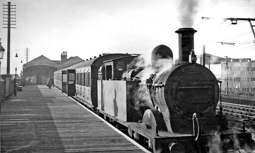 Steam train at romford station..this is the upminster branch line