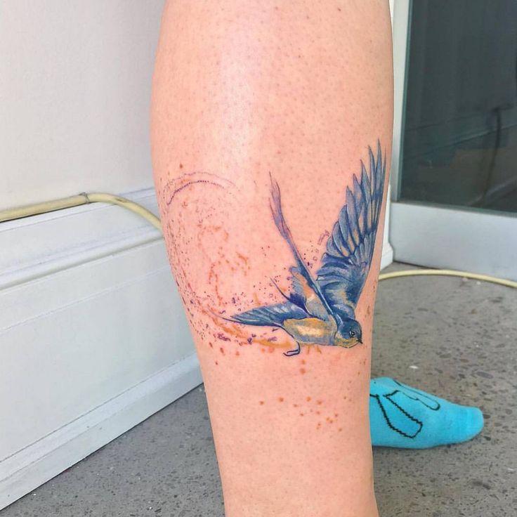 Chronic Ink illustrative tattoo Downtown Toronto Bird on