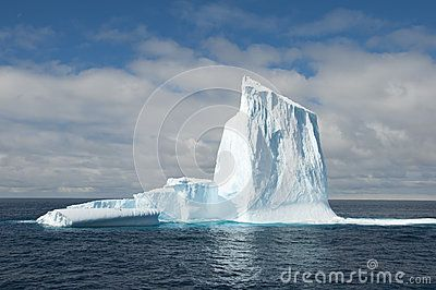 Big iceberg in Antarctic ocean