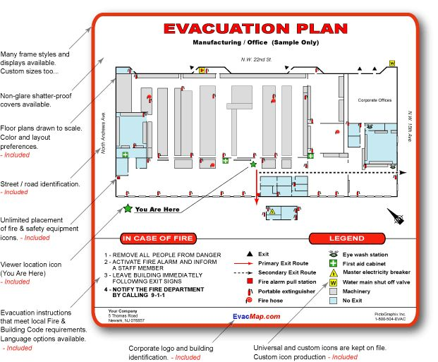 Emergency Evacuation Floor Plan Sle  Carpet Vidalondon