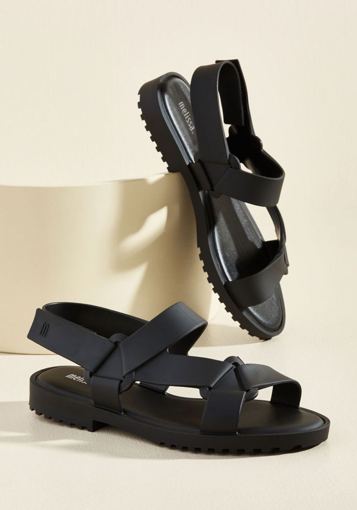 Saunter Onward Vegan Sandal in 10 - Flat - 0-1 by Melissa Shoes from ModCloth
