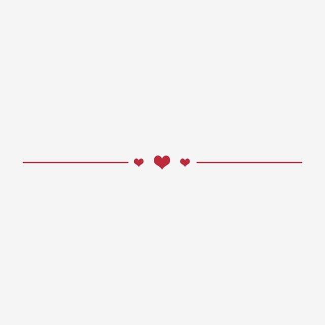 Red Love Dividing Line Heart Shape Dividing Line Love Png Transparent Clipart Image And Psd File For Free Download Instagram Divider Decorative Lines Floral Logo Design