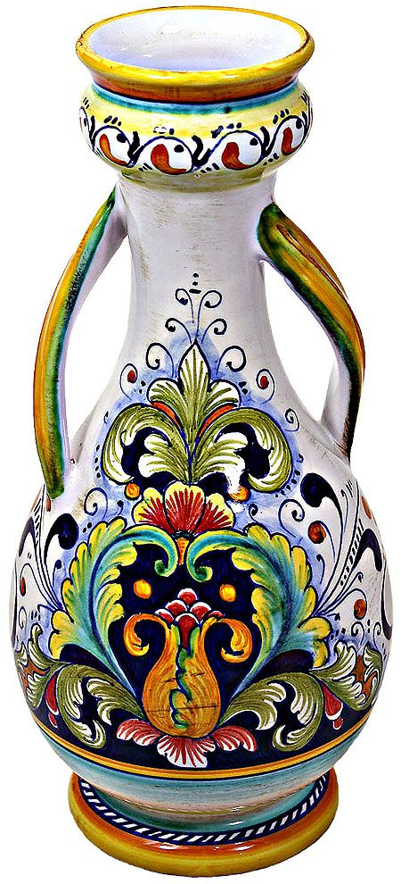 Deruta Italian Ceramic Vase   #TuscanyAgriturismoGiratola