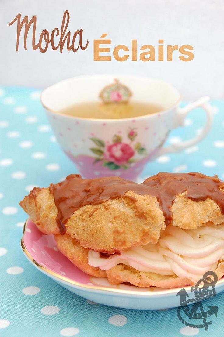Cappuccino Eclairs Recipe — Dishmaps
