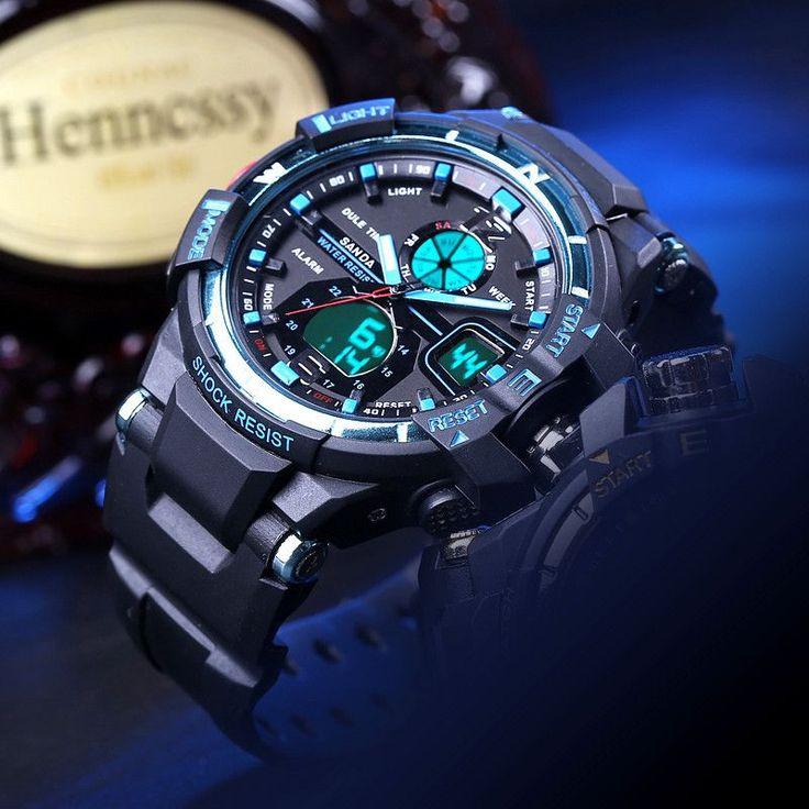 Fashion 30m Waterproof Dive Led Sports ElectronicWatches Men Luxury Brand Watch S Shock Silicone Digital Wristwatch