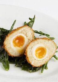 Smoked cod Scotch eggs with aioli - Richard Corrigan - a playful twist on the British picnic classic.