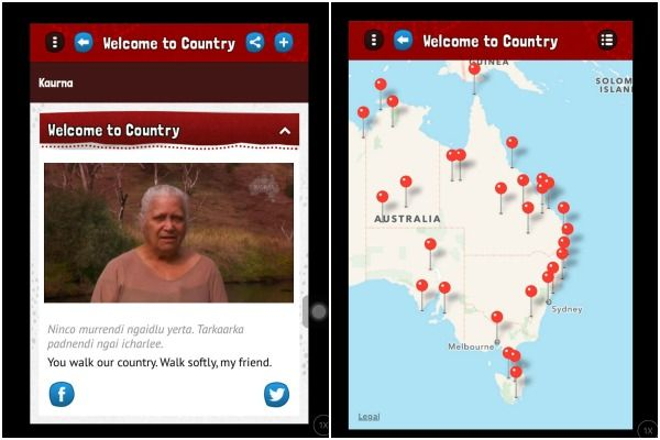 Find out the indigenous history of your suburb using the Welcome to Country app