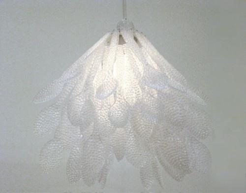 diy plastic spoon lamp crafts pinterest