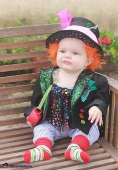Jessica: My son was the Mad Hatter from Alice in Wonderland. The hat was constructed from a small bucket, fabric, stiff felt and a glue gun. We glued a small portion...