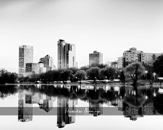 Milwaukee skyline black and white hdr photography milwaukee wisconsin photo