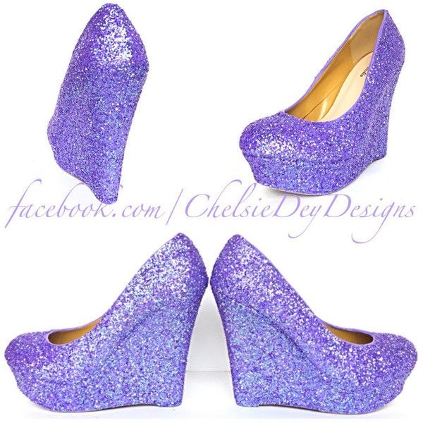 Lilac Glitter Wedges Lavender Purple Sparkly Platform Heels Glitzy... ($84) ❤ liked on Polyvore featuring shoes, pumps, silver, women's shoes, silver pumps, glitter pumps, silver glitter pumps, silver wedge shoes and silver sparkle pumps