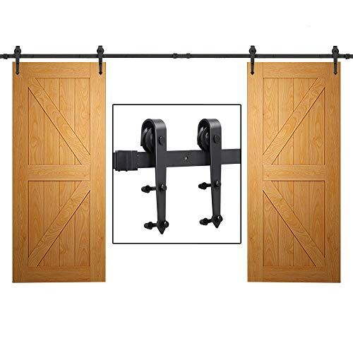 Yaheetech 12ft Sliding Barn Door Closet Hardware Set Blac Https Www Amazon Com Dp B01bhl6stw Re Sliding Barn Door Closet Closet Hardware Sliding Barn Door