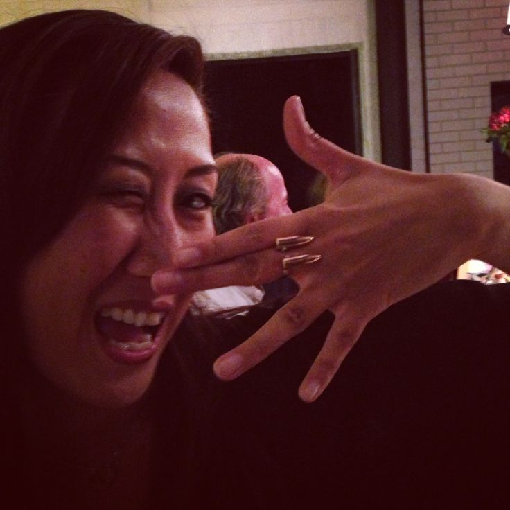 Jennifer Rhee wearing our signature bullet ring.
