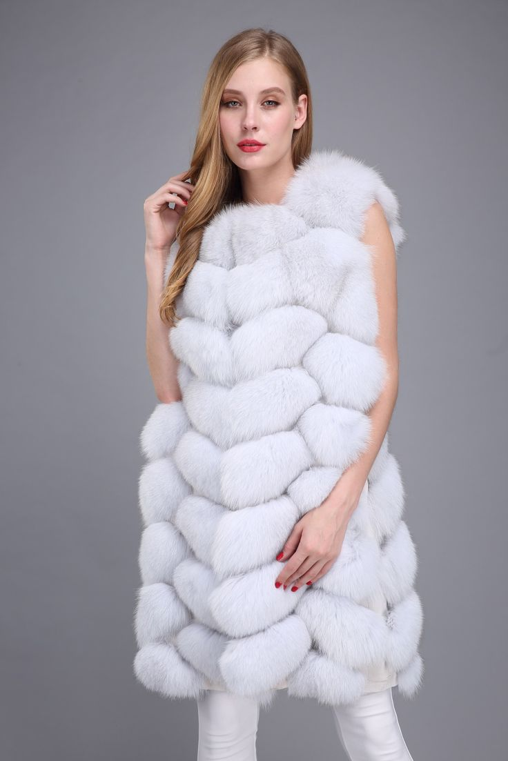 fox fur vest ,$215.Many more fur models ,please contact us.eileenhou.lvcomeff