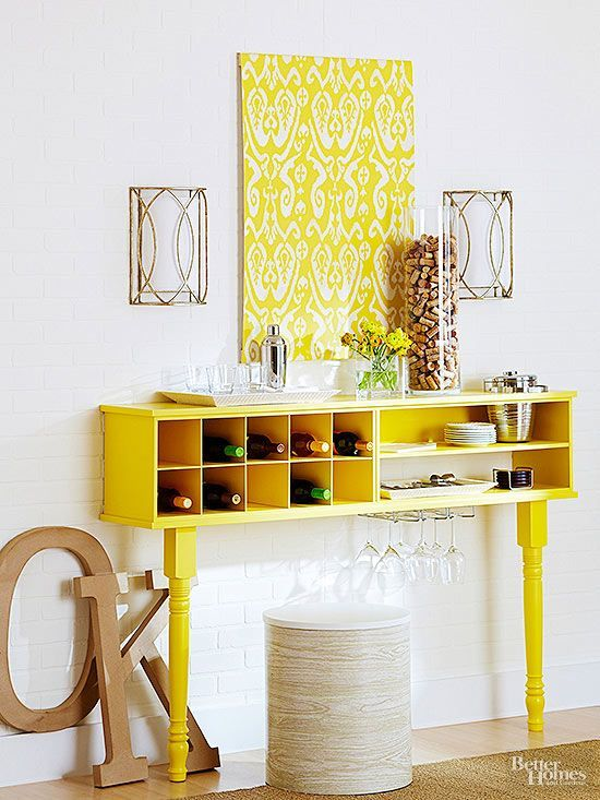 Outfit dining room, bathroom, kitchen, office, and bedroom walls with various sizes of shelves and cabinets to organize and declutter rooms. Our stylish DIY storage ideas will help you corral items and perk up your home's decor at the same time.