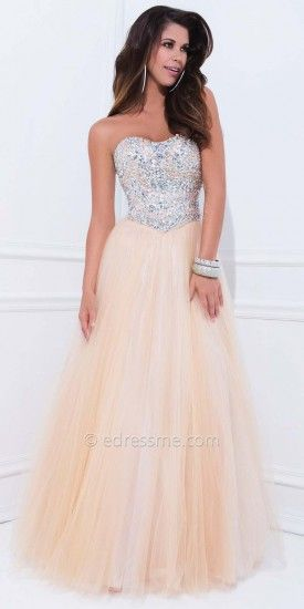 Soft Sweetheart Mesh Princess Evening Dresses by Tony Bowls Le Gala-image
