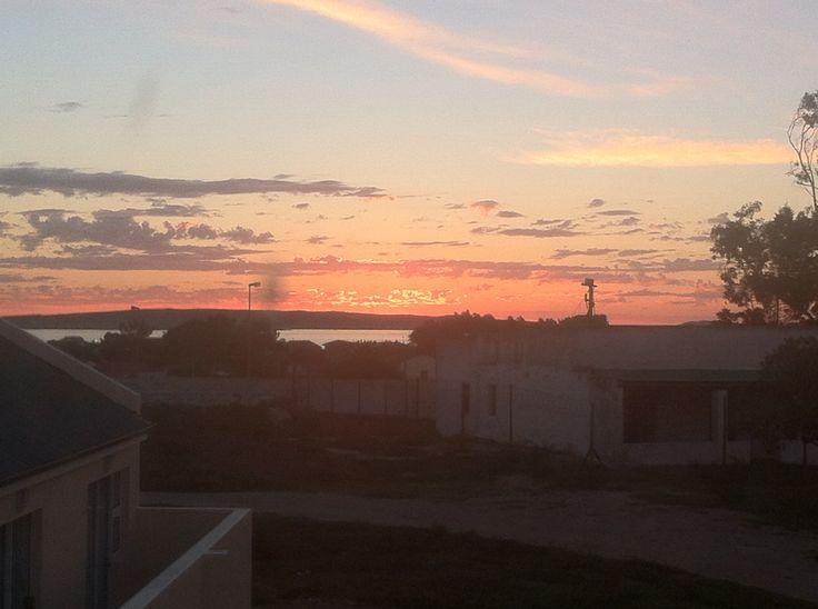 "Sunset over the old ""tolhuis"" Langebaan"