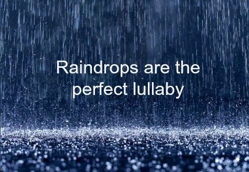 Single raindrop sound