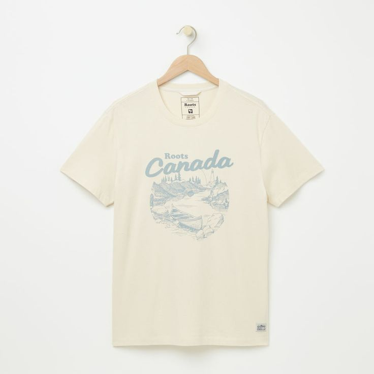 Roots-null-Morell Organic T-shirt-Birch White-A