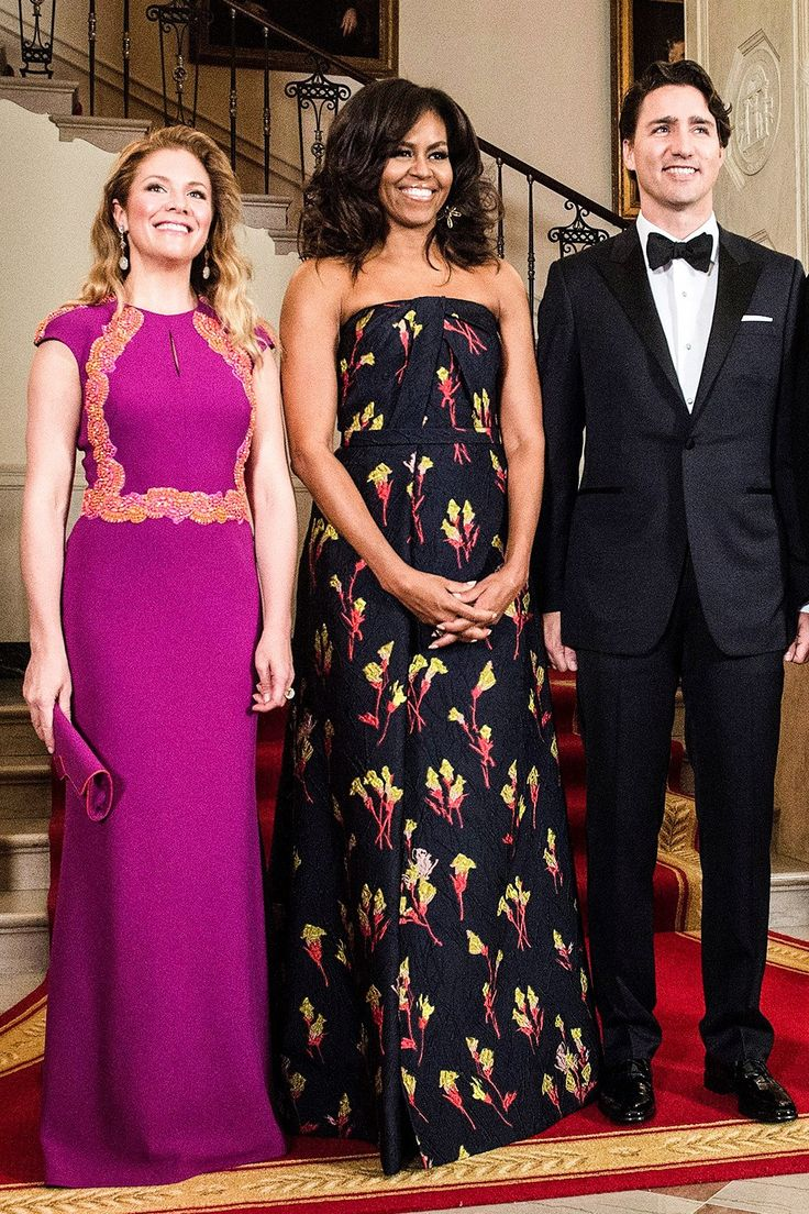 Michelle obama s state dinner dresses at the 2016 state dinner for canada wearing jason wu