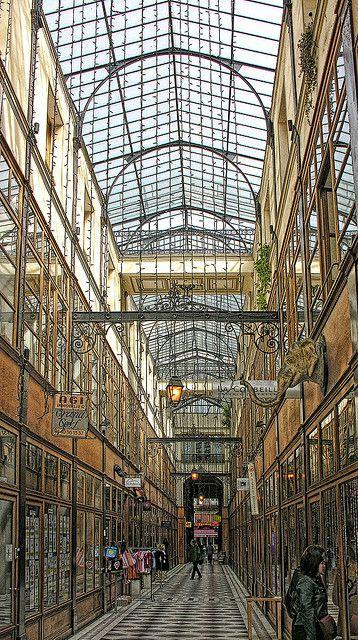 """One of the many """"passages"""" hidden around Paris Passage Montorgueil -"""