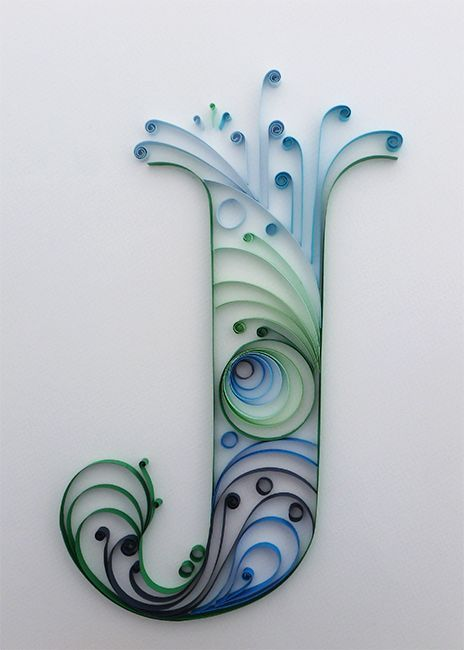 0bd129a78c170ac75407ace46f013bc9 Quilling Letter J Template on