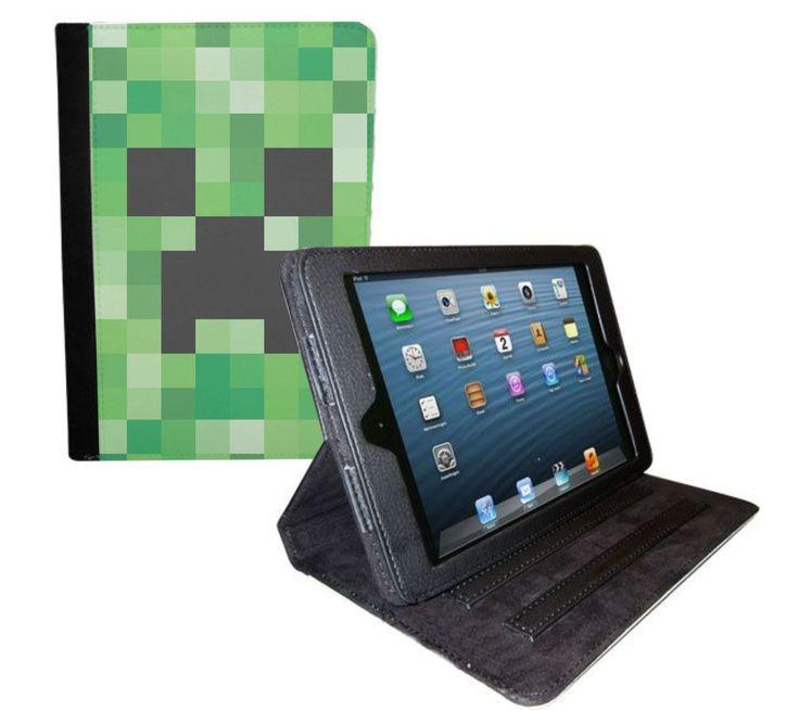 Minecraft Creeper Design iPad Mini Folio Case